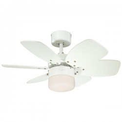 Westinghouse Flora Royale 30 Inch White Ceiling Fan with White and Light Maple Blades