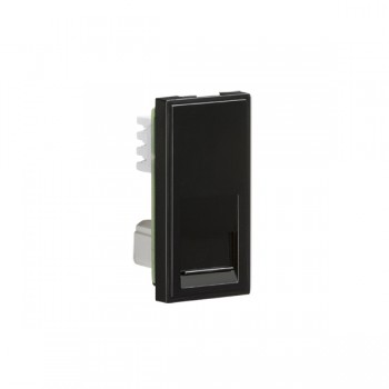 Knightsbridge Black Telephone Secondary Outlet Module - 25x50mm