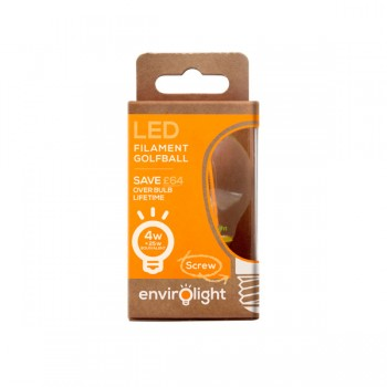 Envirolight Filament 4W Warm White Non-Dimmable E27 LED Golf Ball Bulb