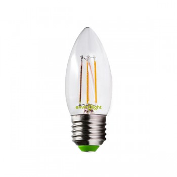 Envirolight Filament 4W Warm White Dimmable E27 LED Candle Bulb