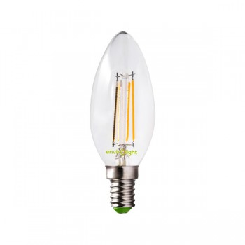 Envirolight Filament 4W Warm White Dimmable E14 LED Candle Bulb