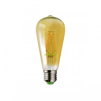Envirolight Filament 4W Warm Non-Dimmable E27 Amber LED Squirrel Cage Bulb