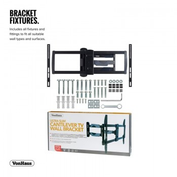VonHaus Reinforced Cantilever TV Wall Bracket for 37-70in TVs