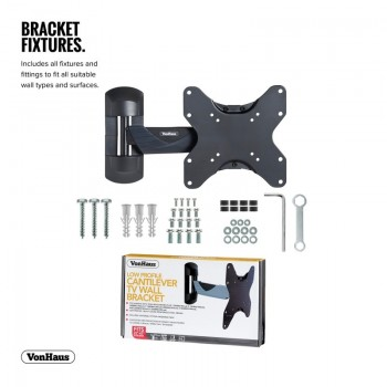 VonHaus Reinforced Cantilever TV Wall Bracket for 23-42in TVs