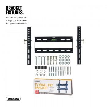 VonHaus Premium Tilt TV Wall Bracket for 17-37.5in TVs