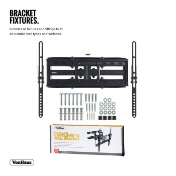 VonHaus Double Arm Cantilever TV Wall Bracket for 23-56in TVs