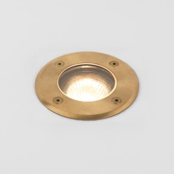 Astro Gramos Coastal Round Natural Brass Outdoor Ground Light