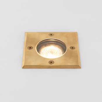 Astro Gramos Coastal Square Natural Brass Outdoor Ground Light