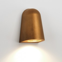 Astro Mast Light Coastal Antique Brass Outdoor Wall Light