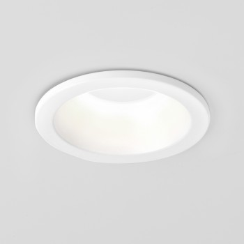 Astro Minima Round GU10 Matt White Bathroom Downlight