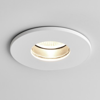 Astro Obscura Round White Bathroom LED Downlight
