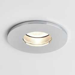Astro Obscura Round Polished Chrome Bathroom LED Downlight