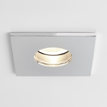 Astro Obscura Square Polished Chrome Bathroom LED Downlight