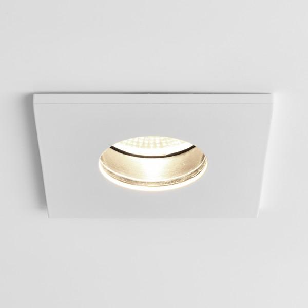 Astro Obscura Square White Bathroom LED Downlight