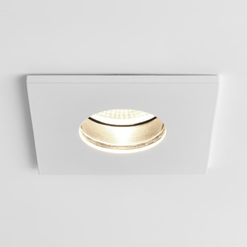 Astro Obscura Square White Bathroom LED Downlight