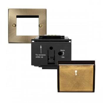 Click Deco Victorian Hotel Key Card Switch w/ Antique Brass & Black Cover