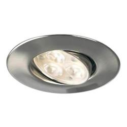 Collingwood Halers H4 FF T 3000K Dimmable Brushed Steel Adjustable LED Downlight - 60° Beam Angle