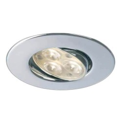 Collingwood Halers H4 FF T 3000K Dimmable Chrome Adjustable LED Downlight - 60° Beam Angle