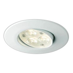 Collingwood Halers H4 FF T 3000K Dimmable Matt White Adjustable LED Downlight - 38° Beam Angle
