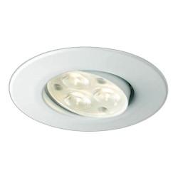 Collingwood Halers H4 FF T 3000K Dimmable Matt White Adjustable LED Downlight - 60° Beam Angle