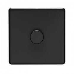 Eurolite Concealed Fix Flat Plate Matt Black 1 Gang 400W Dimmer Switch