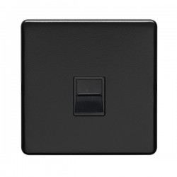 Eurolite Concealed Fix Flat Plate Matt Black 1 Gang Telephone Master