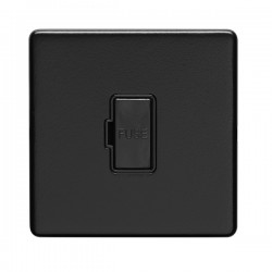 Eurolite Concealed Fix Flat Plate Matt Black 13A Fuse Connection Unit