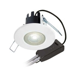 Collingwood Halers H2 Lite T 3000K Dimmable Matt White Fixed LED Downlight