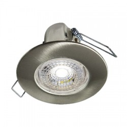 Collingwood Halers H2 Lite T 3000K Dimmable Brushed Steel Fixed LED Downlight