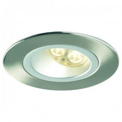 Collingwood Halers H5 500 T Asymmetric 3000K Dimmable Brushed Steel Fixed Low Glare LED Downlight