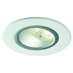 Collingwood Halers H5 500 T Asymmetric 3000K Dimmable Gloss White Fixed Low Glare LED Downlight