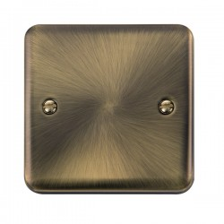 Click Deco Plus Antique Brass 1 Gang Blank Plate