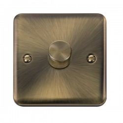 Click Deco Plus Antique Brass 1 Gang 2 Way 400W Dimmer Switch
