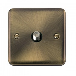 Click Deco Plus Antique Brass Single Satellite Socket with Black Insert