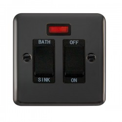Click Deco Plus Black Nickel 20A Double Pole Sink/Bath Switch with Neon and Black Insert
