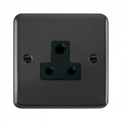 Click Deco Plus Black Nickel 5A Round Pin Socket with Black Insert