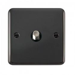 Click Deco Plus Black Nickel Single Satellite Socket with Black Insert