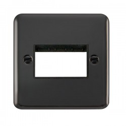 Click Deco Plus Black Nickel 1 Gang Triple Aperture Plate with Black Insert