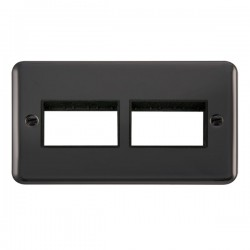 Click Deco Plus Black Nickel 2 Gang 2x3 Aperture Plate with Black Insert
