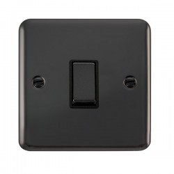 Click Deco Plus Black Nickel 1 Gang 10AX 2 Way Ingot Switch with Black Insert