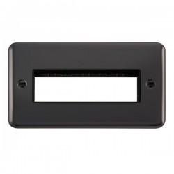 Click Deco Plus Black Nickel 2 Gang 6 In-Line Aperture Plate with Black Insert