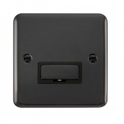 Click Deco Plus Black Nickel 13A Fused Ingot Connection Unit with Black Insert
