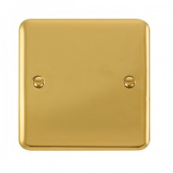 Click Deco Plus Polished Brass 1 Gang Blank Plate