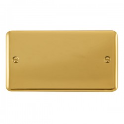 Click Deco Plus Polished Brass 2 Gang Blank Plate