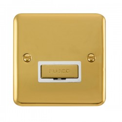 Click Deco Plus Polished Brass 13A Fused Ingot Connection Unit with White Insert