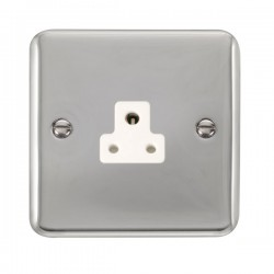Click Deco Plus Polished Chrome 2A Round Pin Socket with White Insert