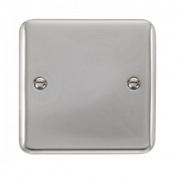 Click Deco Plus Polished Chrome 1 Gang Blank Plate
