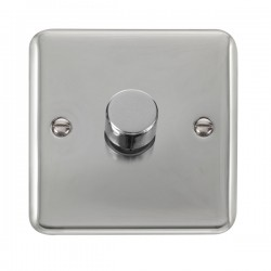 Click Deco Plus Polished Chrome 1 Gang 2 Way 400W Dimmer Switch