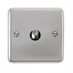 Click Deco Plus Polished Chrome Single Satellite Socket with Black Insert