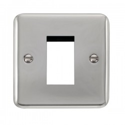 Click Deco Plus Polished Chrome 1 Gang Single Aperture Plate